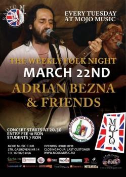 Concert Adrian Bezna & Friends în MoJo Brit Room din Bucureşti