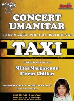Concert umanitar Taxi şi prietenii în Hard Rock Cafe din Bucureşti