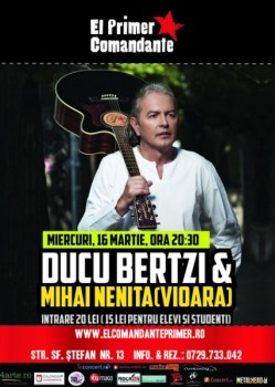 Ducu Bertzi Web 249x350 Concert Ducu Bertzi şi Mihai Neniţă în Club El Primer Comandante din Bucureşti