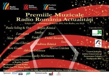 Premiile Muzicale Radio România Actualităţi la Sala Radio din Bucureşti