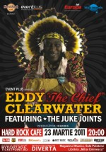 "Eddy ""The Chief"" Clearwater în Hard Rock Cafe din Bucureşti"