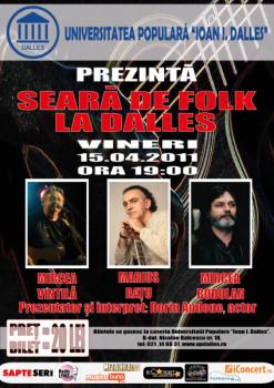 SEARA DE FOLK web 247x350 Seară de Folk la Sala Dalles din Bucureşti