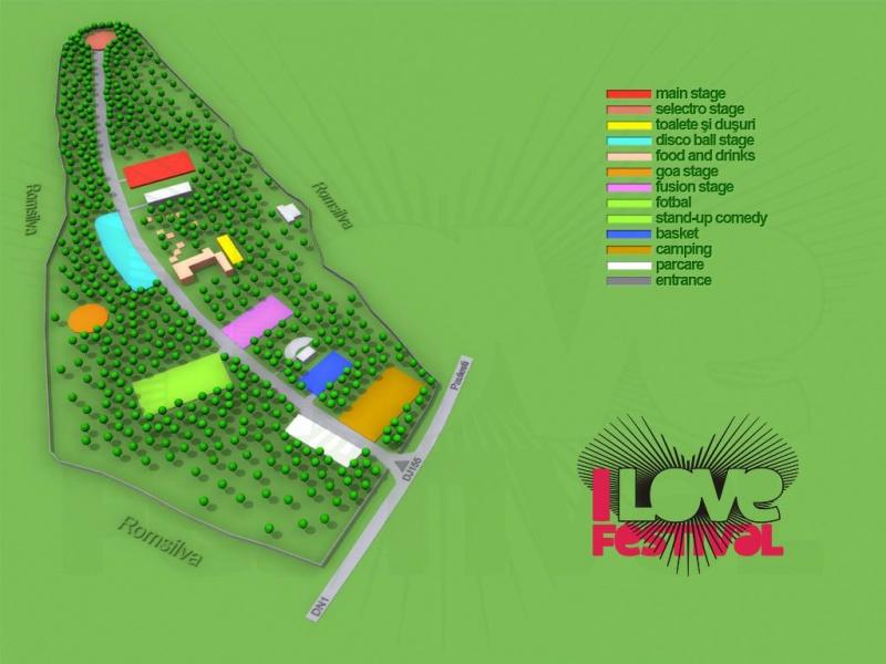 harta i love festival 2011 I Love Festival 2011 în Pădurea Păuleşti