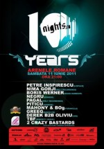 10 Years of Nights.ro la Arenele Romane din Bucureşti