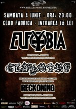 Concert Eufobia şi Claymore în Club Fabrica din Bucureşti