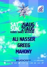 Ali Nasser, Greeg şi Mahony la Kudos Beach din Mamaia