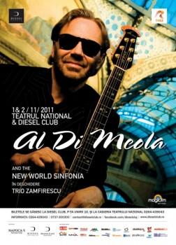 Al Di Meola afis portrait 252x350 Concert Al Di Meola la Teatrul Naţional din Cluj Napoca