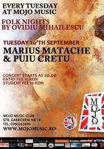 Marius Matache & Puiu Creţu în Mojo Brit Room din Bucureşti