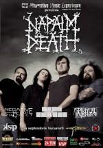 Concert Napalm Death în Club Wings din Bucureşti