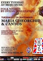 Maria Gheorghiu şi Trupa Cantos în Mojo Brit Room din Bucureşti