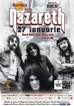 nazareth hard rock cafe 245x350 Concert Nazareth în Hard Rock Cafe din Bucureşti