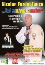 Concert Nicolae Furdui Iancu la Sala Palatului din Bucureşti