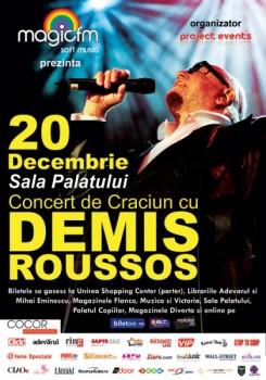 Afis Demis 245x350 Concert Demis Roussos la Sala Palatului din Bucureşti