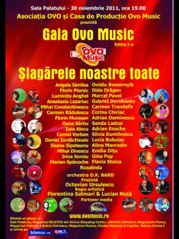 Gala Ovo Music 2011 la Sala Palatului din Bucureşti