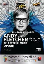 Andy Fletcher of Depeche Mode în Club Midi din Cluj-Napoca