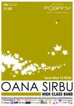 Concert Oana Sîrbu & High Class Band în Madame Pogany din Bucureşti
