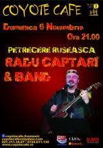 Concert Radu Captari & Band în Coyote Cafe din Bucureşti