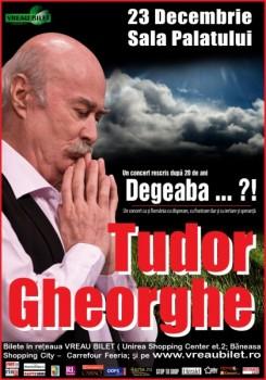 """Concert Tudor Gheorghe """"Degeaba…?!"""" la Sala Palatului"""