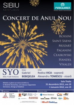 Concert de Anul Nou – Sibiu Youth Orchestra la Sibiu