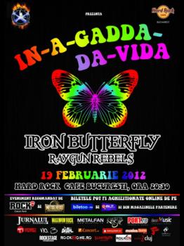 Concert Iron Butterfly în Hard Rock Cafe din Bucureşti