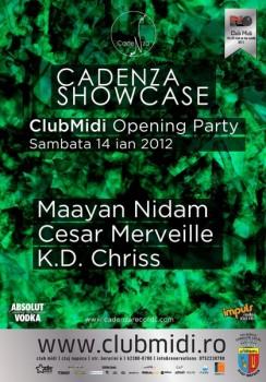 Cadenza Showcase la Club Midi din Cluj-Napoca