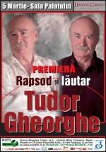 """Concert Tudor Gheorghe """"Rapsod şi lăutar"""" la Sala Palatului din Bucureşti"""