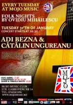 Concert Adi Bezna şi Catalin Ungureanu în Mojo Brit Room din Bucureşti
