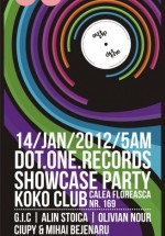 Dot One Records Afterhours Showcase în Koko Club  Bucureşti