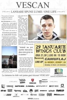 Concert Vescan în Club Wings din Bucureşti
