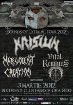 Sounds Of The Extreme Metal Tour 2012 în Club Fabrica din Bucureşti