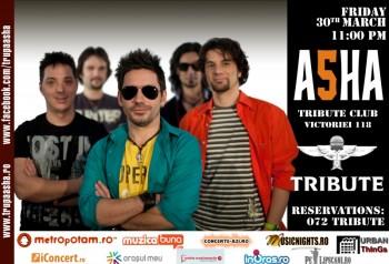 Concert ASHA în Club Tribute din Bucureşti