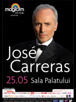 afis careras 262x350 Concert Jose Carreras la Sala Palatului din Bucureşti