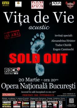 Concert Viţa de Vie la Opera Naţională din Bucureşti
