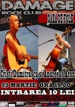 Concert Cristi Dumitraşcu şi Andreeas Aron în Damage Rock Club din Bucureşti