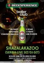 Concert Shazalakazoo în Boiler Club din Cluj-Napoca