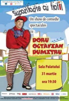 Afis DORU OCTAVIAN DUMITRU la Sala Palatului 242x350 Turneu Doru Octavian Dumitru în România