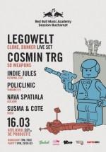 Legowelt şi Cosmin TRG în Atelierul de Producţie din Bucureşti