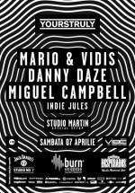 Danny Daze, Miguel Campbell, Mario & Vidis în Studio Martin Bucureşti