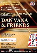 Concert Dan Vana în Mojo Music Club din Bucureşti
