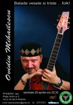 Concert Ovidiu Mihăilescu în Club Phoenix din Iaşi
