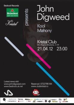 John Digweed în Kristal Glam Club din Bucureşti