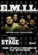 Concert E.M.I.L. în The Stage Club din Bacău