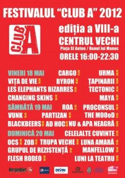 Festivalul Club A 2012 la Bucureşti – ANULAT