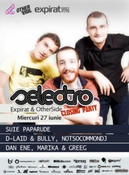 Şuie Paparude live la Selectro în Club Expirat & OtherSide din Bucureşti