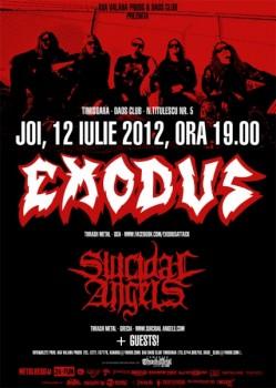 Concert Exodus şi Suicidal Angels în Daos Club din Timişoara