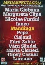 Mandinga, Viorica şi Ioniţă din Clejani şi Maria Ciobanu în Piaţa Constituţiei din Bucureşti