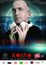DJ Monsieur Magic în Kasho Club din Braşov