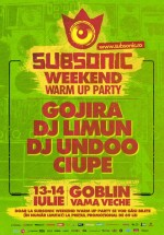 Subsonic Festival Warm Up Party la Club Goblin din Vama Veche