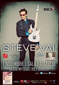 Concert Steve Vai la Sala Palatului din Bucureşti
