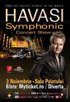 """Havasi """"Symphonic Concert Show"""" la Sala Palatului din Bucureşti"""